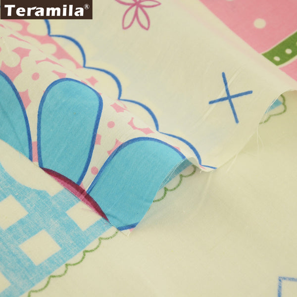 Art Work Beginner Practice Hat Girl Dress Pretty Colorful Flowers Quilting Cotton Twill Fabric Dolls