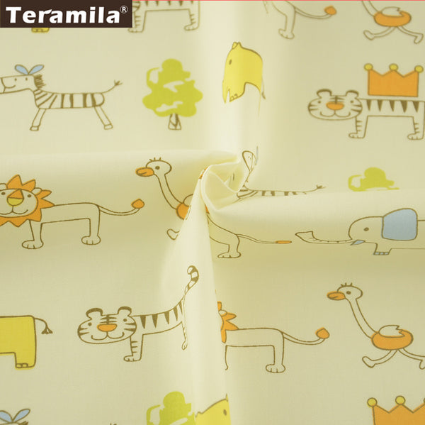 Bedding Set Meter Fabric For Sewing Smiling Animals Lovely Patterns Crafts Cotton Twill Fabric
