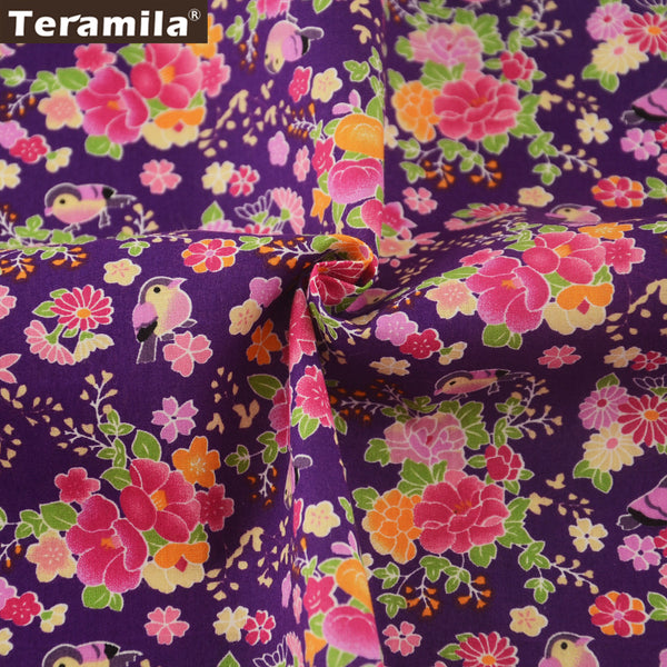 Cotton Poplin Fabric Fat Quarter Meter Crafts Dress Floral Patchwork Home Decoration Quilting Dolls
