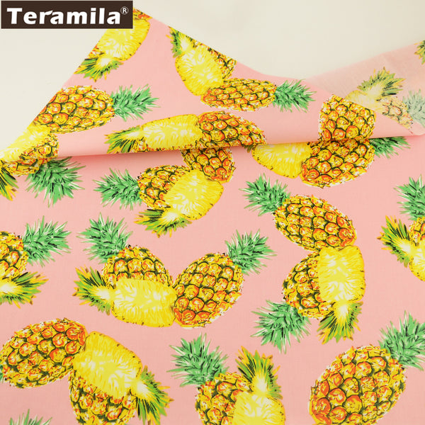 Cotton Poplin Fabric Dress Patchwork Pineapple Meter Home Decoration Crafts Quilting Art Work