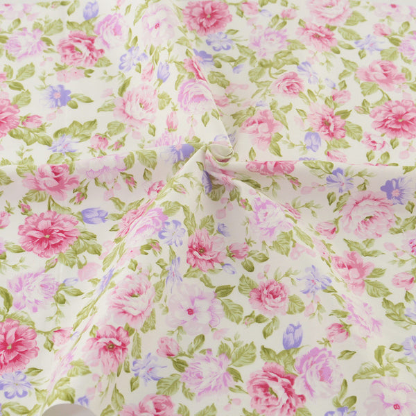 Teramila Pink Cotton Fabrics Sewing Patchwork Quilting Half Meter