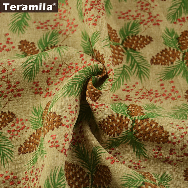 Linen Fabric Bag Pine Nuts 50X150cm Cusion Fat Quarter Meter Home Textile Crafts Decoration