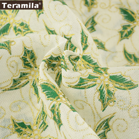 Linen Fabric Home Textile DIY Dolls Fat Quarter Meter 50X150cm Gold Powder Patchwork Pillows