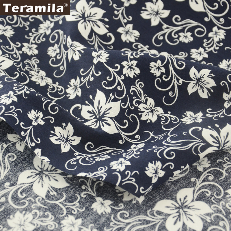 Cotton Poplin Fabric Decoration Art Work Home Textile Scrapbooking Flower Dress Shirt Quilting