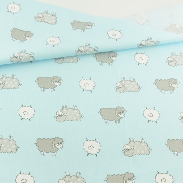 Blue Sheep Cotton Twill Fabric Teramila Home Textile Sewing Bedding Quilting Clothing Craft
