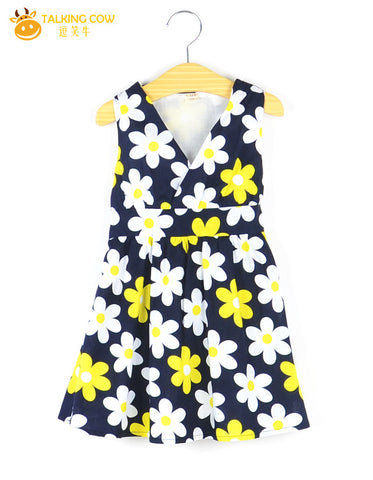 2017 Summer Fashion Natural Cotton Dress Girls Kids Clothes