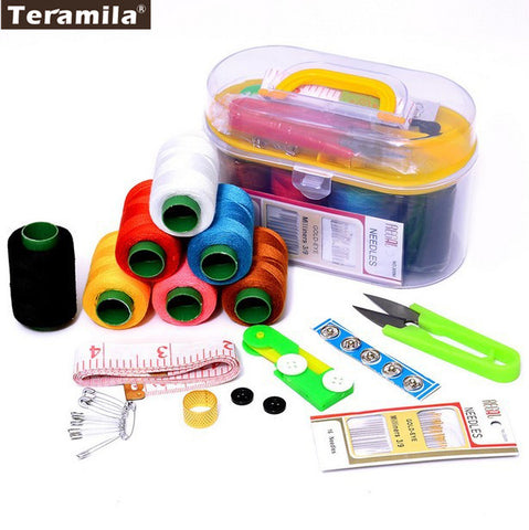 Sewing Kits Needle Thread Scissor Ruler Tool Sets 46pcs/set Handsewing Must Have Storage Box