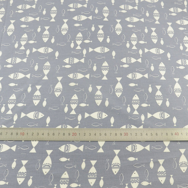 Fish Cotton Twill Fabric Teramila Home Textile Sewing Bedding Quilting Clothing Craft