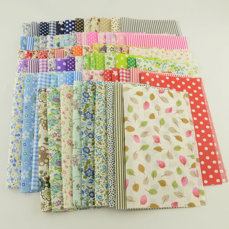 50pcs//lot Plain Thin Cotton Fabric Patchwork For DIY Quilting Sewing