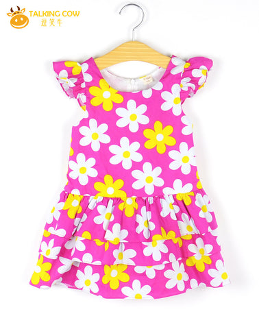 Cotton Dress 2017 Summer Fashion Natural Girls Clothes