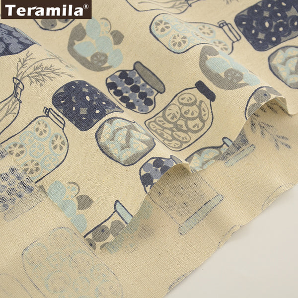 Sewing Material Tablecloth Pillow Bag Curtain Cushion Home Textile Cotton Linen Fabric Lovely Style