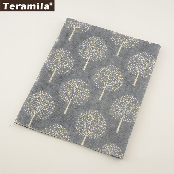 Textile Dark Grey Cotton Linen Fabric Sewing Dandelion Material Tablecloth Bag Curtain Cushion