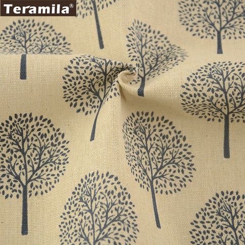 Dandelion Design Cotton Linen Fabric Sewing Material Bag TableCloth Curtain Decoration Pillow