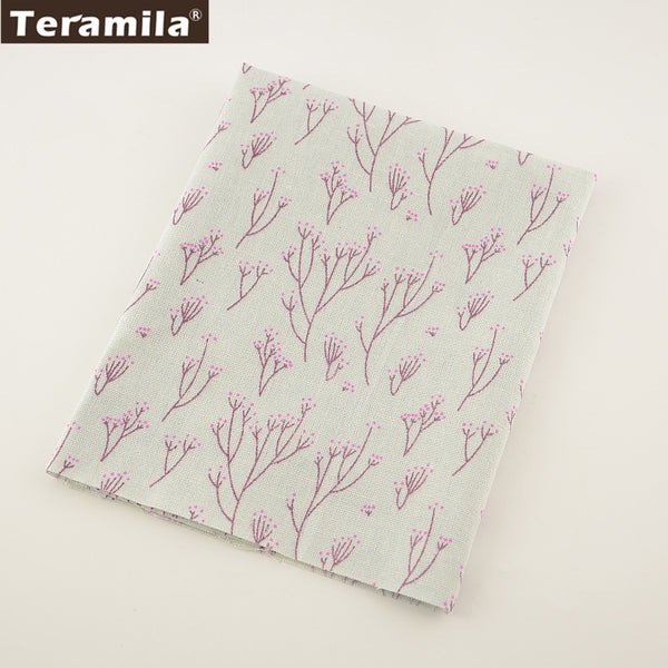Home Textile Peach Blossom Cotton Linen Fabric Sewing Tablecloth Bag Curtain Cushion Decoration