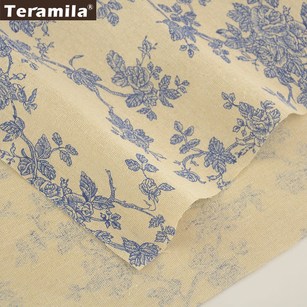 Cotton Linen Fabric Wintersweet Sewing Material Tablecloth Pillow Bag Curtain Cushion Crafts Tissue
