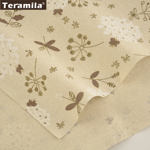 Home Textile Cotton Linen Fabric Flower  Sewing Material Table Cloth Bag Curtain Cushion Zakka