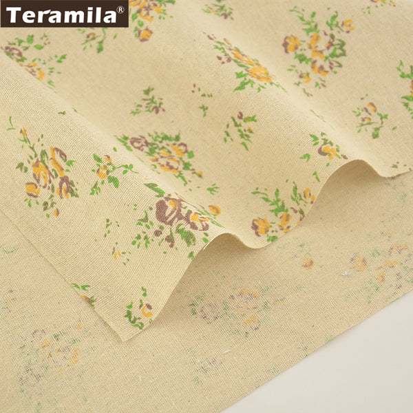 Home Textile Sewing Material Table Cloth Pillow Bag Dolls Curtain Cushion Rose Cotton Linen Fabric