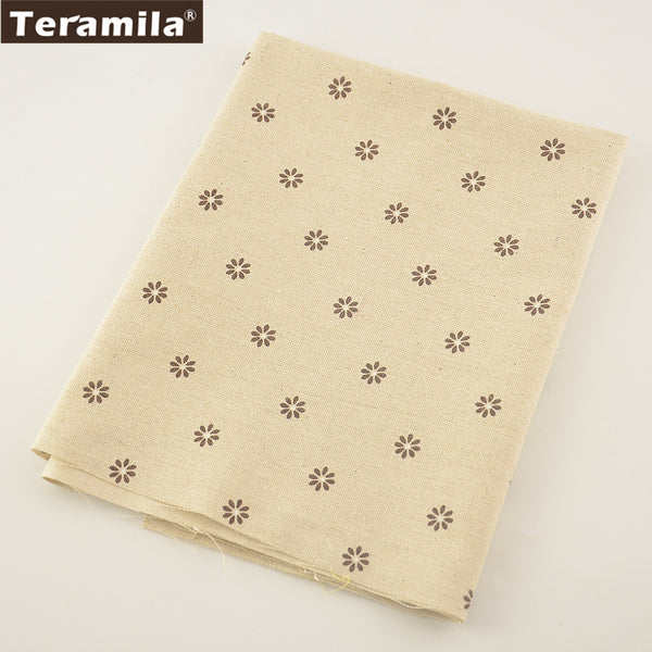 Sewing Material Tablecloth Pillow Bag Curtain Cushion Little Flower Design Cotton Linen Fabric