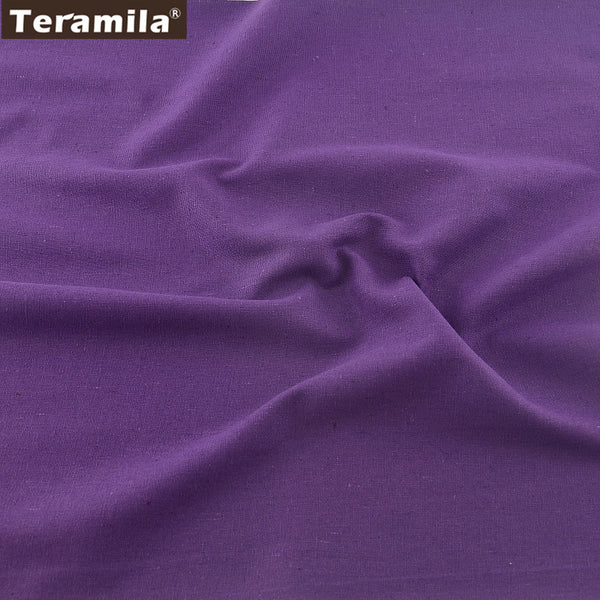 Purple Color Sewing Home Textile Cotton Linen Fabric Table Cloth Pillow Bag Curtain Cushion Zakka