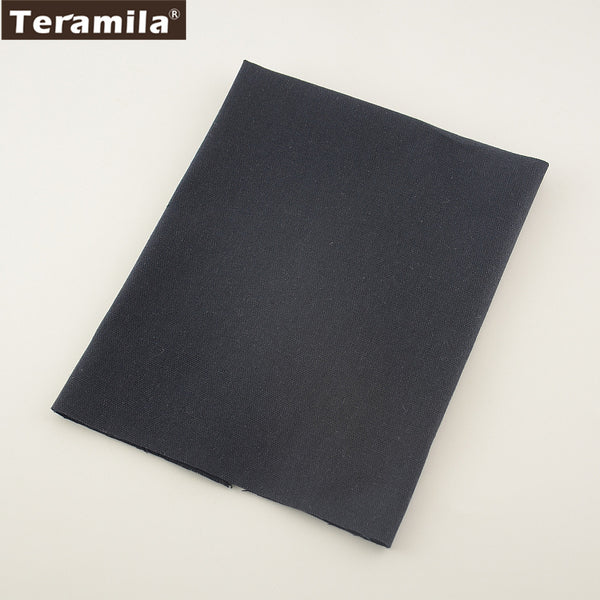 Quilting Textile Cotton Linen Fabric Dark Blue Color Sewing Table Cloth Bag Curtain Cushion Pillow