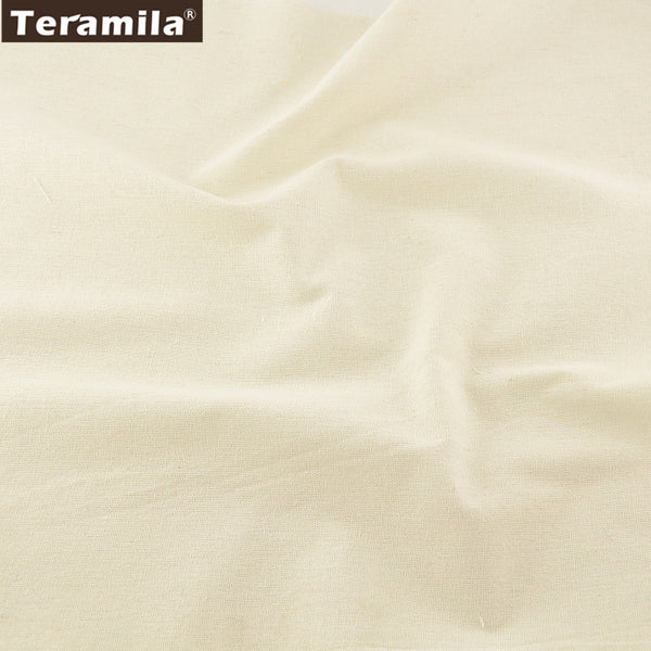 Ivory Cotton Linen Fabric Home Textile Sewing Material Tablecloth Curtain Cushion Decoration Zakka