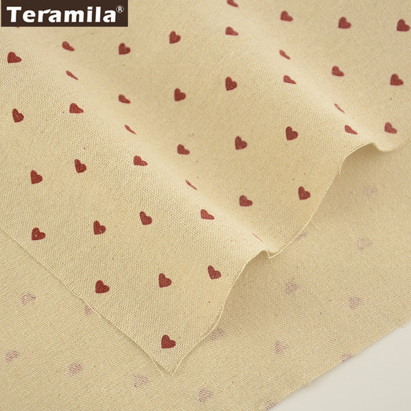Loving Heart Sewing Material Quilting Cotton Linen Fabric Bag Table Cloth Curtain Crafts Decoration