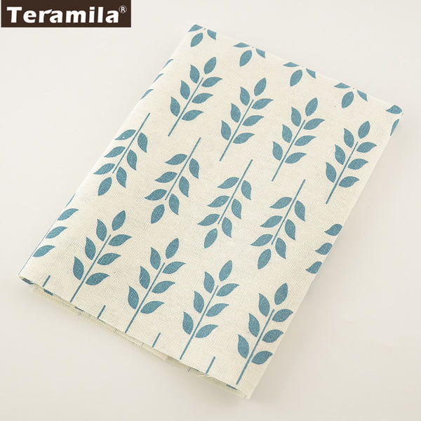 Green Leaves Cotton Linen Fabric Sewing Table Cloth Pillow Bag Curtain Cushion Crafts Home Textile