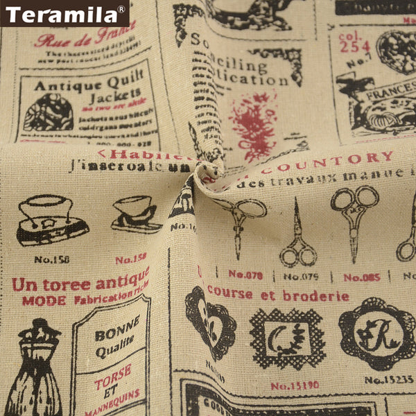 Sewing Cotton Linen Fabric Table Cloth Pillow Bag Curtain Cushion Cartoon Crafts Home Textile