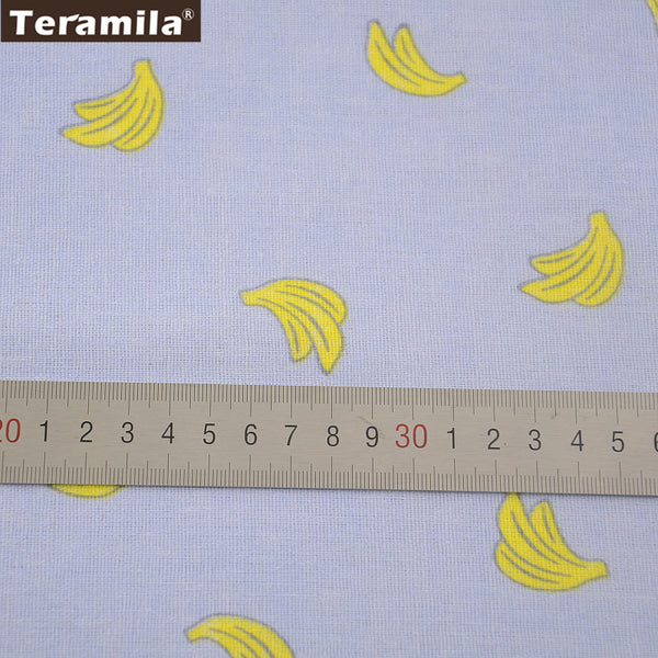Banana Pattern Home Textile Tablecloth Pillow Curtain Bag Cushion Zakka Cotton Linen Fabric Sewing