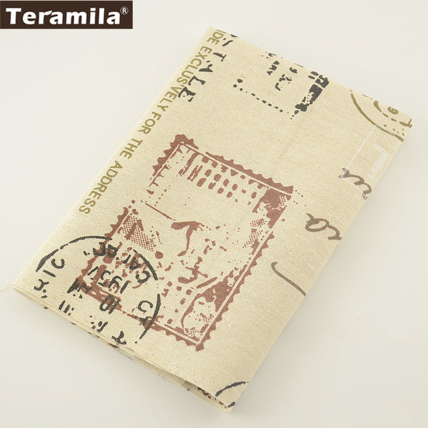 Tablecloth Pillow Textile Printed Stamps Cotton Linen Fabric Sewing Material Bag Curtain Cushion