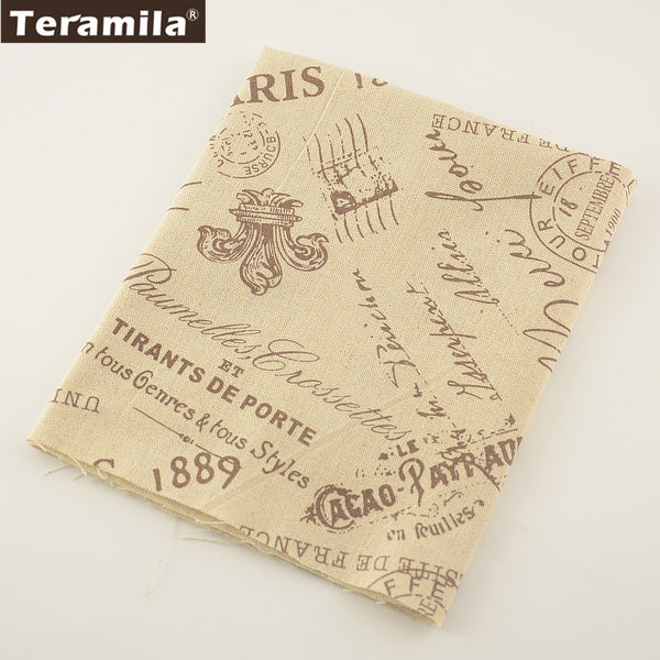 Printed Words Cotton Linen Fabric Sewing Table Cloth Pillow Bag Curtain Cushion Home Textile