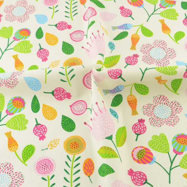 Floral Cotton Twill Fabric Teramila Home Textile Sewing Bedding Quilting Clothing Accessory