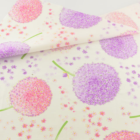 Pink Flower Cotton Twill Fabric Teramila Home Textile Sewing Bedding Quilt Cloth Craft DIY
