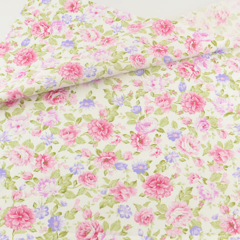Rose Pink Cotton Twill Fabric Teramila Home Textile Sewing Bedding Quilt Cloth Craft DIY Doll
