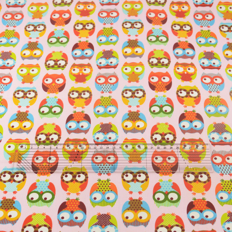 Copy of Pink Owl Cotton Twill Fabric Teramila Home Textile Sewing Bedding Quilting Clothing Craft