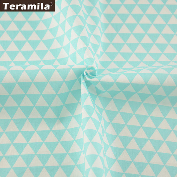 Light Green Triangle Soft Quilting Cloth Tecido For Bed Sheet Baby Beding Dolls Home Textile