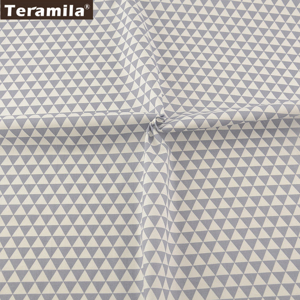 Bed Sheet Gray Triangle Design Home Textile Sewing Patchwork High quality Tissue