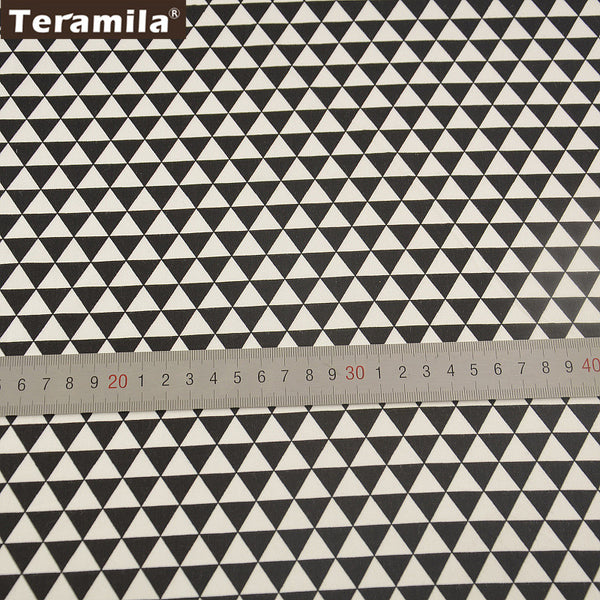 Black Triangle Design Qulting Sewing Tela Bedding Decration Patchwork Home Textile Materia