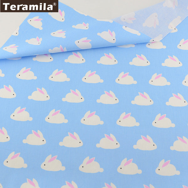 Home Textile Material Bed Sheet Quilting Tecido For Baby Patchwork Dolls Rabbit  Design