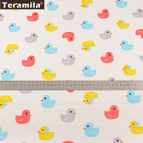 Lovely Colorful Ducks Designs Twill Home Textile Material Bed Sheet  Patchwork Quilting