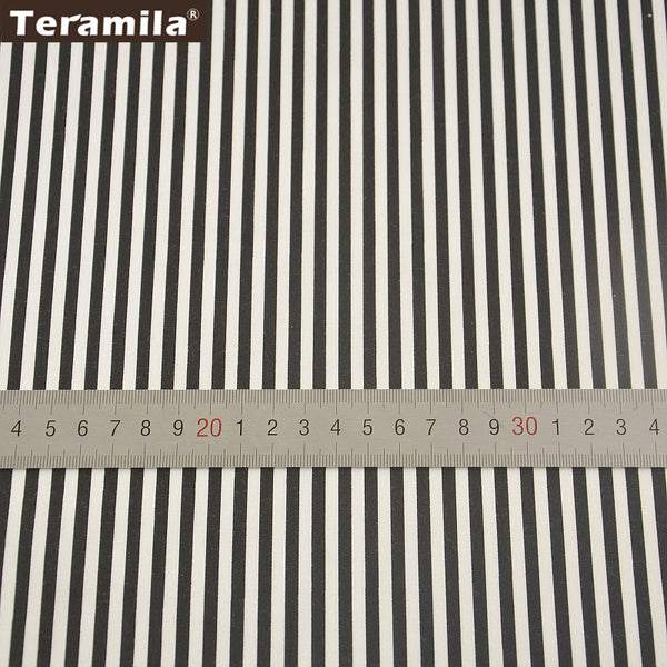 Teramila Home Textile Black Strips Design Sewing Material Bed Sheet DIY Patchwork Quilting
