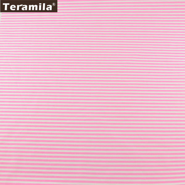 Pink Stripe Twill Cloth Material Suitable For Bed Sheet Patchwork Tecido TERAMILA Home Textile
