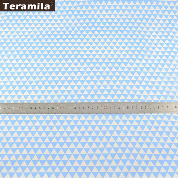 Light BlueTriangle Soft Quilting Cotton Fabric TERAMILA Twill Tecido Home Textile baby Bedding