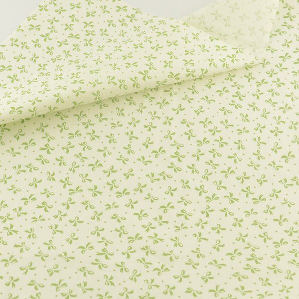 Green Bow Cotton Twill Fabric Teramila Home Textile Sewing Bedding Quilting Clothing Craft