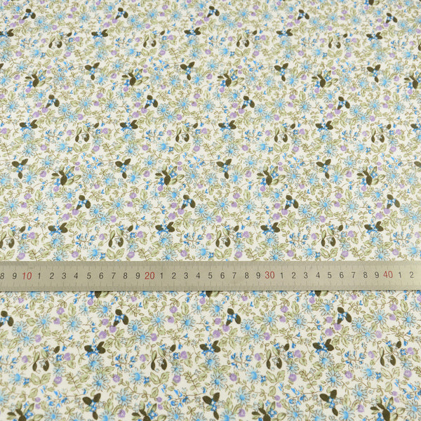 Cute Blue Flowers Designs Cotton Fabric Patchwork Home Textile Decoration Crafts Tissue