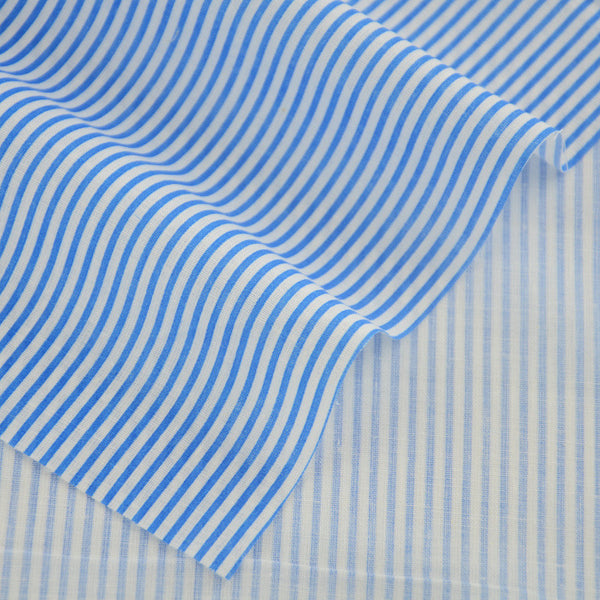 Blue And White Stripes Design 100% Cotton Fabric Patchwork Home Textile Clothing Sewing