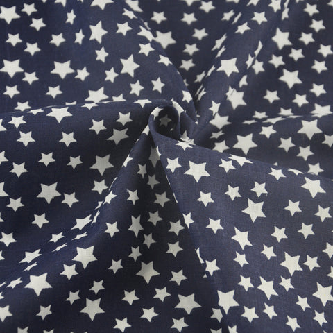 Scrapbooking Blue Cotton Fabric Lovely White Star Clothing Decoration Sewing Cloth