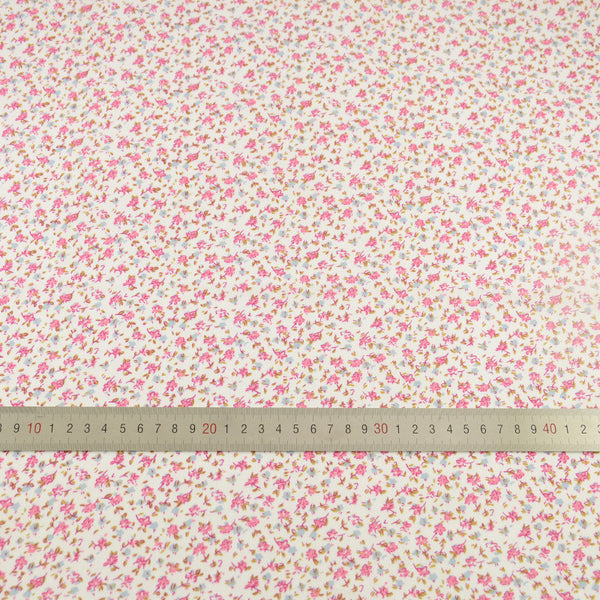 Cotton Fabric Blue and Pink Flower Design Patchwork Tecido Doll Home Textile Scrapbooking
