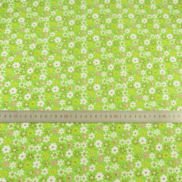 Cotton Fabric Green Color Home Texitle Patchwork Clothing Telas Tissue Tecidos Lovely Flowers