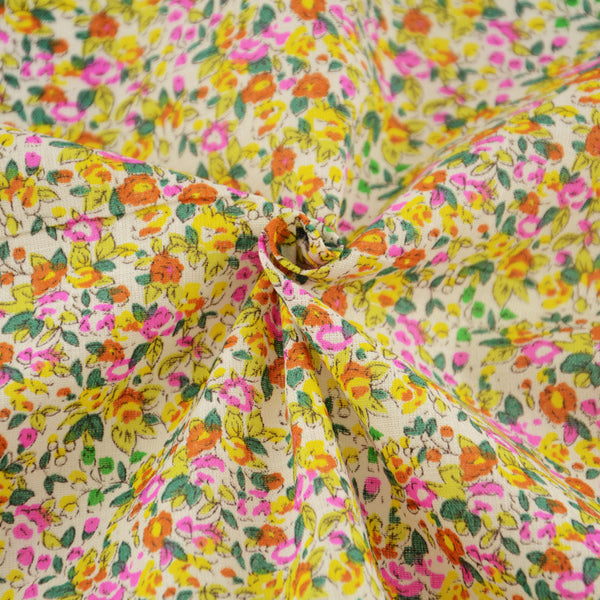 Colorful Flowers Cotton Plain Fabric Patchwork Telas for Tecido Clothing Sewing Tissue Patchwork